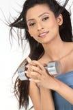 Indisch meisje met stomme klokken Stock Afbeeldingen