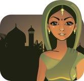 Indisch meisje (vector) Royalty-vrije Stock Foto