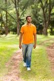Indisch mens het lopen park Stock Fotografie