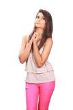 Indisch mooi tienermeisje Royalty-vrije Stock Fotografie