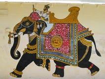 Indisch muurschilderij Stock Afbeeldingen
