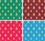 Indisch naadloos behang Royalty-vrije Stock Foto