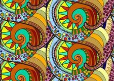 Indisch naadloos patroon Stock Afbeelding