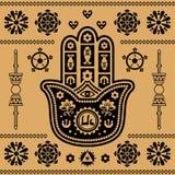 Indisch ornament Royalty-vrije Stock Afbeeldingen