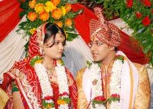 Indisch paar royalty-vrije stock afbeeldingen