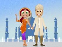 Indisch paar vector illustratie
