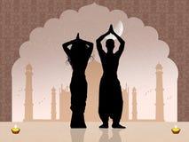 Indisch paar royalty-vrije illustratie