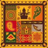 Indisch patroon Stock Afbeeldingen