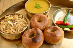 Indisch Rajasthani-voedsel Stock Fotografie