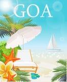 Indisch reismalplaatje met reclame van toevlucht India Vector illustratie in retro stijl royalty-vrije illustratie
