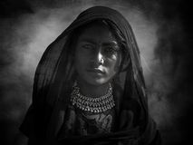 Indisch stammenmeisje van Pushkar stock foto's