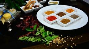 Indisch und Gewürze kochend stockfoto