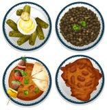 Indisch voedsel royalty-vrije illustratie