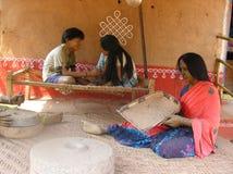 Indisch vrouwen thuis standbeeld Royalty-vrije Stock Foto