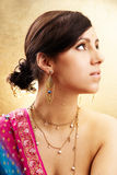 Indisch vrouwenportret Royalty-vrije Stock Afbeeldingen