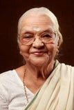 Indische ältere Frau Lizenzfreies Stockfoto