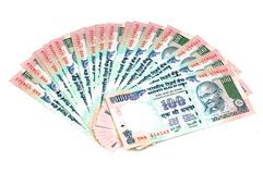 Indische 100 Roepiesnota's Stock Foto