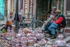 Indische aardewerkverkopers Royalty-vrije Stock Foto