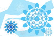 Indische angespornte Blumenauslegung Stockfotos