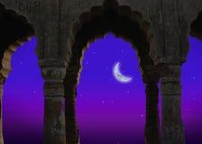 Indische Architektur nachts Stockfotos