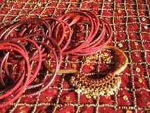 Indische armbanden Stock Foto's