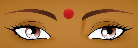 Indische Augen Stockfoto