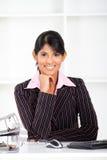 Indische Bürodame stockbilder