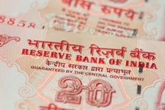 Indische Banknoten Stockbild