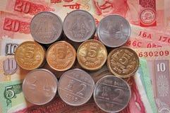 Indische Bargeld-Banknoten und Münzen Lizenzfreies Stockbild