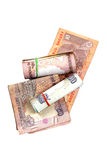 Indische Bargeldanmerkungen Lizenzfreie Stockfotografie