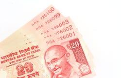 Indische Bargeldanmerkungen Stockbild