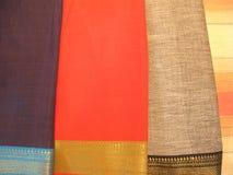Indische BaumwollSarees Lizenzfreies Stockfoto