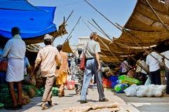 Indische Bazaar Stock Foto's