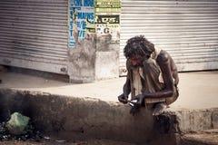 Indische Bedelaar Stock Foto