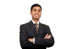 Indische bedrijfsmens die. glimlacht Royalty-vrije Stock Afbeeldingen