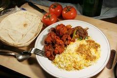 Indische biryani Nahrung mit Huhn masala Lizenzfreies Stockbild