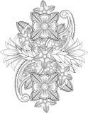 Indische bloem stock illustratie