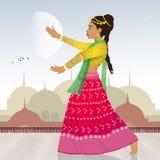 Indische Bollywood-dans royalty-vrije illustratie