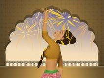 Indische Bollywood-dans stock illustratie