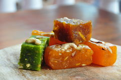 Indische Bonbons Badam Halwa Stockbild
