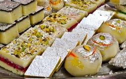 Indische Bonbons - Mithai Lizenzfreie Stockfotografie