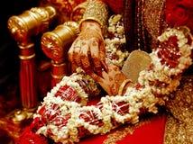 Indische Brauthände Lizenzfreies Stockbild