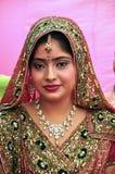 Indische bruid Royalty-vrije Stock Afbeeldingen