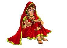 Indische bruid Stock Foto's