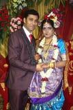 Indische Bruid & Bruidegom Royalty-vrije Stock Fotografie