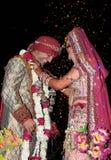 Indische bruid en bruidegom Royalty-vrije Stock Foto's