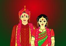 Indische bruidegom stock illustratie