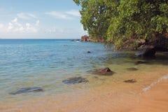 Indische Bucht und Küste Kingstown, Heiliges-Vicent Lizenzfreies Stockbild