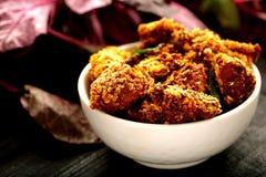 Indische cuisine- gebraden kip stock afbeeldingen