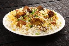 Indische cuisine- traditionele vissen pulav of pilau stock afbeeldingen